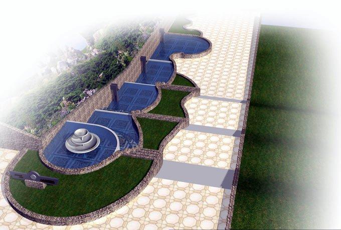 Парк Орлятко Главный вход вид сверху