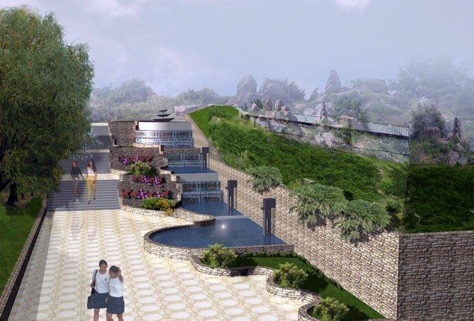 Парк Орлятко Водный каскад Вид на главный вход